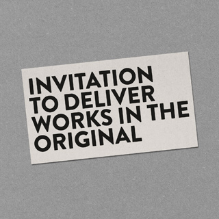 Invitation for selected artists