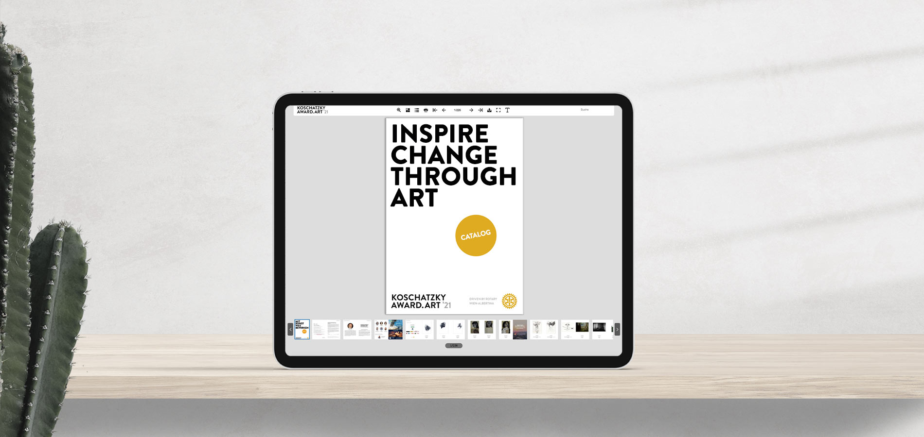 INSPIRE CHANGE THROUGH ART, Exhibition-catalog